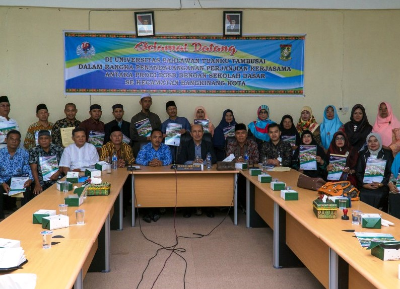 Universitas Pahlawan Adakan MoU dengan 25 Sekolah Dasar (SD) di Kabupaten Kampar